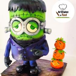 Tarta Minion Halloween RESERVA