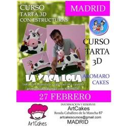 Aromaro Cakes en ArtCakes - Curso tarta 3d con estructura - vaca lola